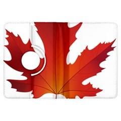 Autumn Maple Leaf Clip Art Kindle Fire Hdx Flip 360 Case