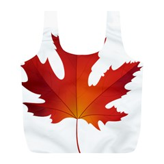 Autumn Maple Leaf Clip Art Full Print Recycle Bags (l)  by BangZart