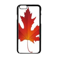 Autumn Maple Leaf Clip Art Apple Iphone 6/6s Black Enamel Case by BangZart