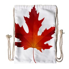 Autumn Maple Leaf Clip Art Drawstring Bag (large) by BangZart