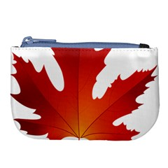 Autumn Maple Leaf Clip Art Large Coin Purse by BangZart