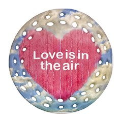 Love Concept Poster Design Round Filigree Ornament (two Sides) by dflcprints