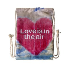 Love Concept Poster Design Drawstring Bag (small) by dflcprints