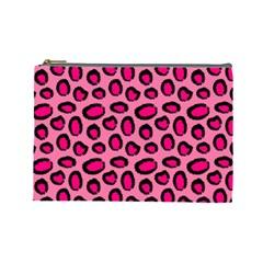 Cute Pink Animal Pattern Background Cosmetic Bag (large)  by TastefulDesigns