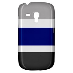Grey White Blue Stripes Galaxy S3 Mini by TailWags