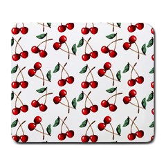 Cherry Red Large Mousepads by Kathrinlegg