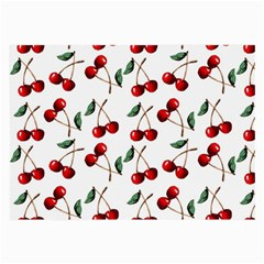 Cherry Red Large Glasses Cloth (2 Side) by Kathrinlegg