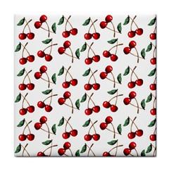 Cherry Red Face Towel by Kathrinlegg