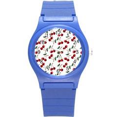 Cherry Red Round Plastic Sport Watch (s) by Kathrinlegg