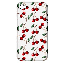 Cherry Red Apple Iphone 4/4s Hardshell Case (pc+silicone) by Kathrinlegg