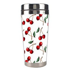 Cherry Red Stainless Steel Travel Tumblers by Kathrinlegg