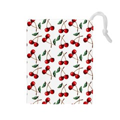 Cherry Red Drawstring Pouches (large)  by Kathrinlegg