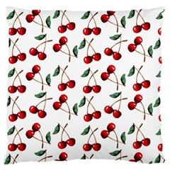 Cherry Red Standard Flano Cushion Case (one Side) by Kathrinlegg