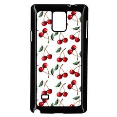 Cherry Red Samsung Galaxy Note 4 Case (black) by Kathrinlegg