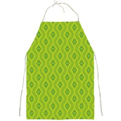 Decorative Green Pattern Background  Full Print Aprons by TastefulDesigns