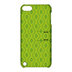 Decorative Green Pattern Background  Apple Ipod Touch 5 Hardshell Case With Stand by TastefulDesigns