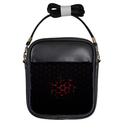 Abstract Pattern Honeycomb Girls Sling Bags by BangZart