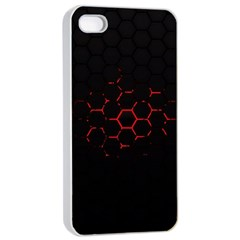 Abstract Pattern Honeycomb Apple Iphone 4/4s Seamless Case (white) by BangZart