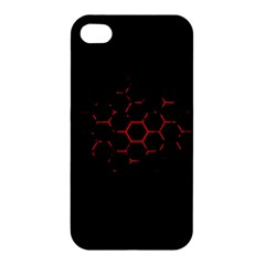 Abstract Pattern Honeycomb Apple Iphone 4/4s Premium Hardshell Case by BangZart