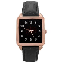 Abstract Pattern Honeycomb Rose Gold Leather Watch  by BangZart