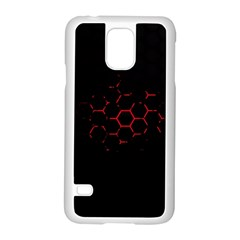 Abstract Pattern Honeycomb Samsung Galaxy S5 Case (white) by BangZart