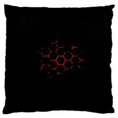 Abstract Pattern Honeycomb Standard Flano Cushion Case (one Side) by BangZart