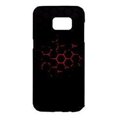 Abstract Pattern Honeycomb Samsung Galaxy S7 Edge Hardshell Case by BangZart