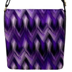 Purple Wavy Flap Messenger Bag (s) by KirstenStar