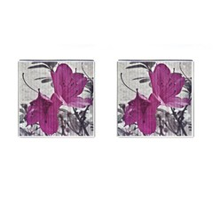 Vintage Style Flower Photo Cufflinks (square) by dflcprints