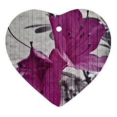 Vintage Style Flower Photo Heart Ornament (two Sides) by dflcprints