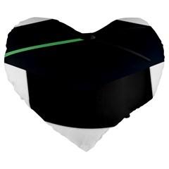 Graduate Cap Large 19  Premium Heart Shape Cushions by Colorfulart23