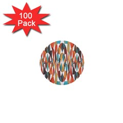 Colorful Geometric Abstract 1  Mini Buttons (100 Pack)  by linceazul