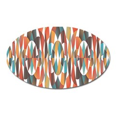 Colorful Geometric Abstract Oval Magnet by linceazul