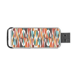 Colorful Geometric Abstract Portable Usb Flash (two Sides) by linceazul