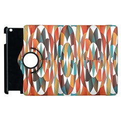 Colorful Geometric Abstract Apple Ipad 2 Flip 360 Case by linceazul