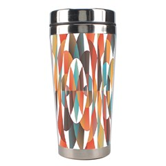 Colorful Geometric Abstract Stainless Steel Travel Tumblers by linceazul