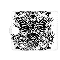Tattoo Tribal Owl Kindle Fire Hdx 8 9  Flip 360 Case by Valentinaart