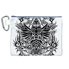 Tattoo Tribal Owl Canvas Cosmetic Bag (xl) by Valentinaart
