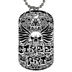 Tattoo Tribal Street Art Dog Tag (two Sides) by Valentinaart