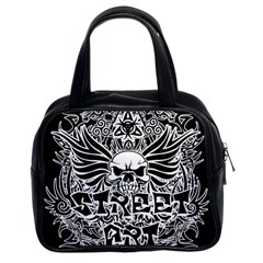 Tattoo Tribal Street Art Classic Handbags (2 Sides) by Valentinaart