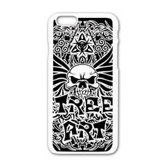 Tattoo Tribal Street Art Apple Iphone 6/6s White Enamel Case by Valentinaart