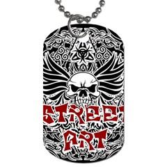 Tattoo Tribal Street Art Dog Tag (two Sides) by Valentinaart