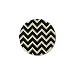 Chevron9 Black Marble & Beige Linen Golf Ball Marker (4 Pack) by trendistuff