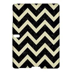 Chevron9 Black Marble & Beige Linen Samsung Galaxy Tab S (10 5 ) Hardshell Case  by trendistuff