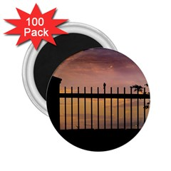 Small Bird Over Fence Backlight Sunset Scene 2 25  Magnets (100 Pack)  by dflcprints