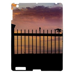 Small Bird Over Fence Backlight Sunset Scene Apple Ipad 3/4 Hardshell Case by dflcprints