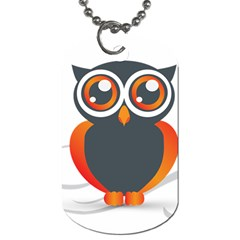 Owl Logo Dog Tag (two Sides) by BangZart