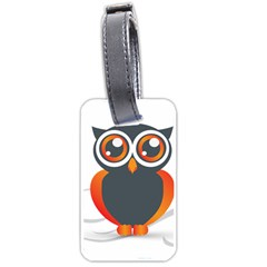 Owl Logo Luggage Tags (one Side)  by BangZart