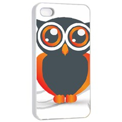 Owl Logo Apple Iphone 4/4s Seamless Case (white) by BangZart