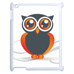 Owl Logo Apple Ipad 2 Case (white) by BangZart